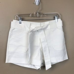 New with tags loft white tie front of shorts 2